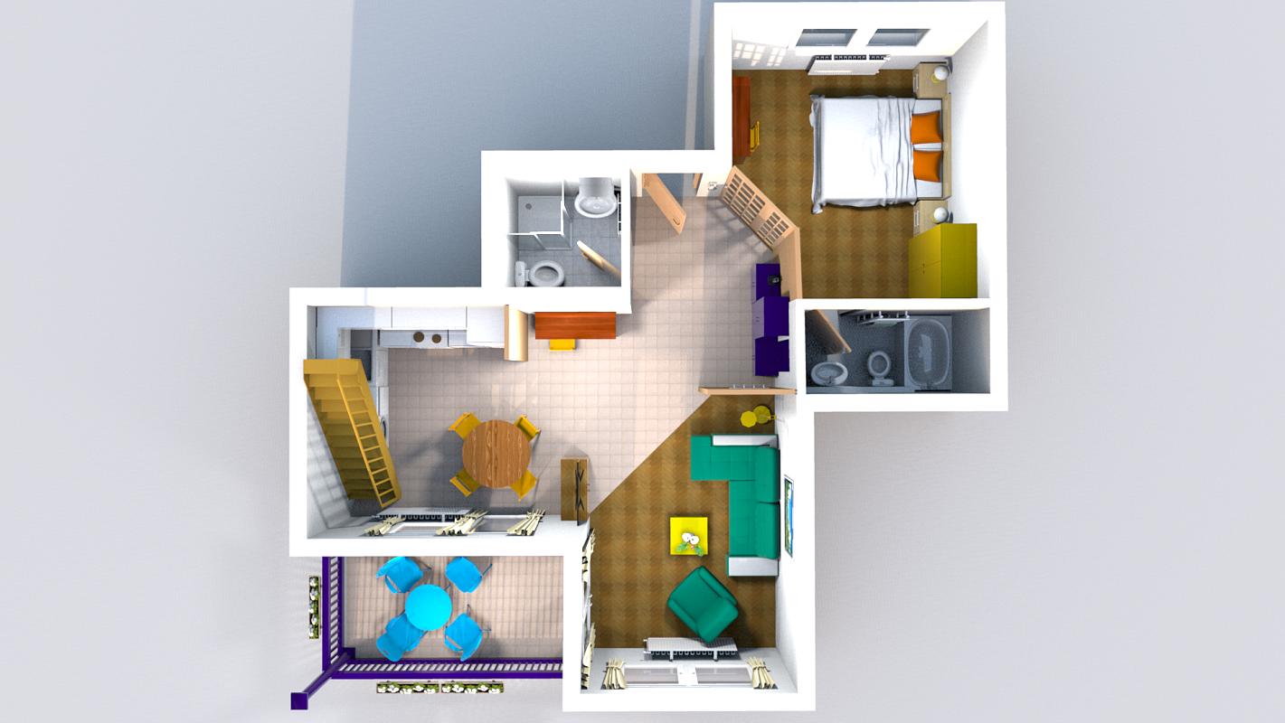 3d floor plans renderings 3d floor plan classic top view without gallery