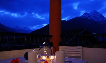 Abendstimmung am Balkon in Matrei in Osttirol