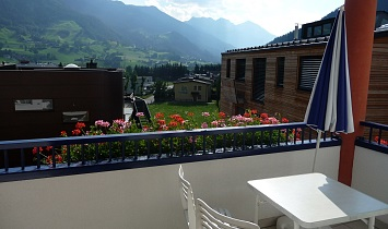 View from the balcony to Virgental in Tirol